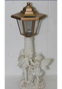 Maison & Garden - Stone Effect Solar Powered Garden Lamp Post with Fairy