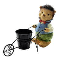 HEDGEHOG WITH TROLLEY PLANTER
