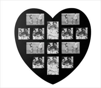 Maison & Garden - Wooden Heart Shaped Multiframe - Shop all Giftware