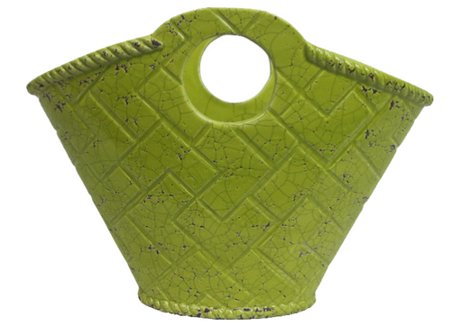 Maison & Garden - Bright Green Ceramic Pot - Browse Garden Products