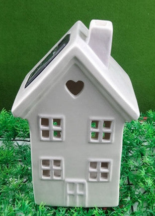 Maison & Garden - Solar Powered Ceramic House - Shop all Giftware