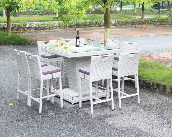 Villa Bar Set With Ice Bucket - Light Grey