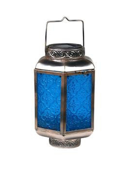 Maison & Garden - Blue Glass Morroccan Lantern - Browse All Lighting & Gifts