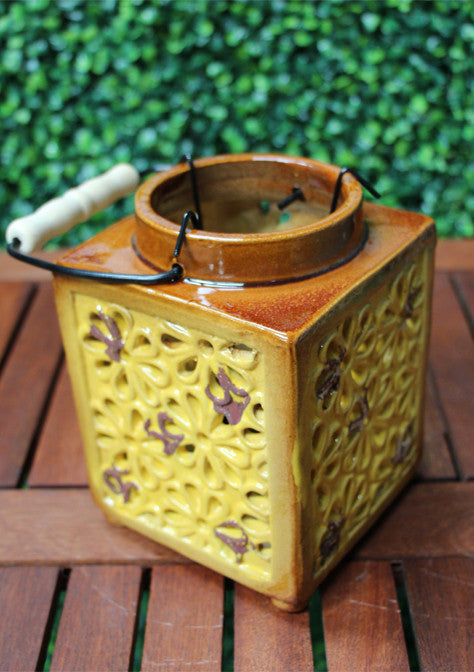 Maison & Garden - Vintage Ceramic Flower Lantern - Shop all Giftware