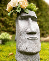 Fibre Clay Ornamental Head Pot - Grey
