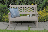 Winawood Speyside 2 Seater Wood Effect Garden Bench - Aged Teak