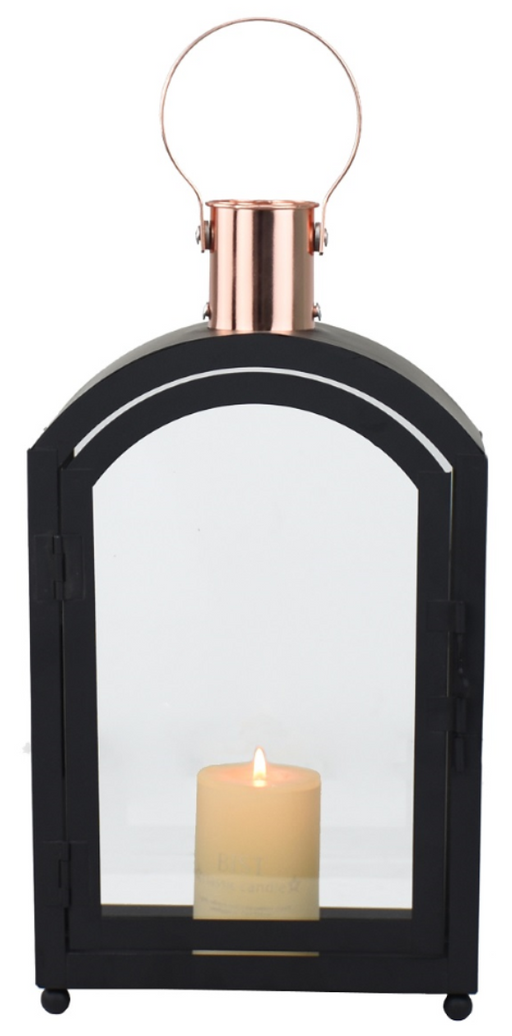 BLACK & COPPER COLOURED LANTERN
