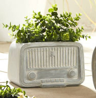 Nostalgic Radio Cement Planter