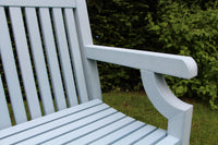 Sandwick Winawood 3 Seater Wood Effect Garden Bench - Powder Blue