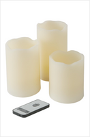 Maison & Garden - Set of 3 LED Candles with Remote Control