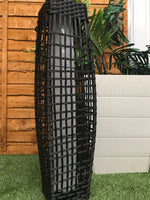 LARGE RATTAN PLANTER WITH SOLAR LIGHT UP BASE