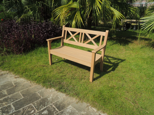Winawood Maywick 2 Seater Wood Effect Garden Bench - Teak