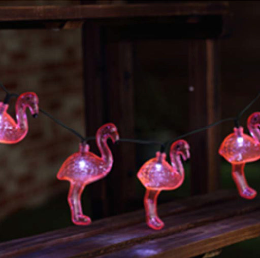 SOLAR FLAMINGO STRING LIGHTS