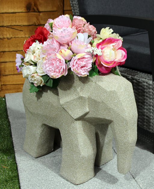 ORNAMENTAL ELEPHANT POT