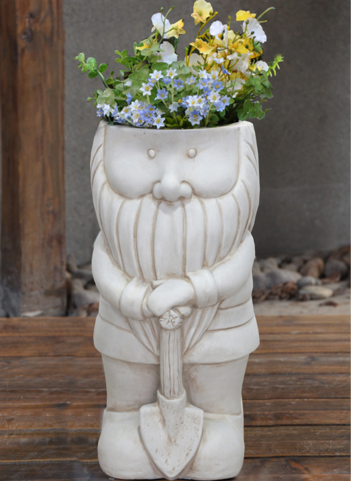 ORNAMENTAL GNOME POT - MAN