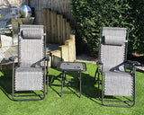 3 Piece Zero Gravity Chair Set