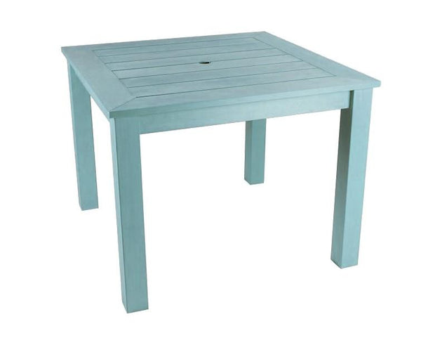 Square Winawood Dining Table 98x98x76cm - Powder Blue