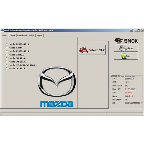 UHDS - Mazda change KM by OBD (MAP1)