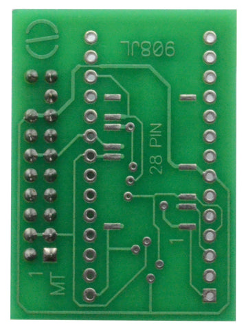 908JL Adapter for Orange5 - for 68HC908JL3,908JL8 - DIP28,SOIC28,QFP32 (for soldering)