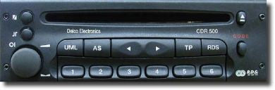 Car radio decoding by OBDII for Opel CDR500, CDR2005