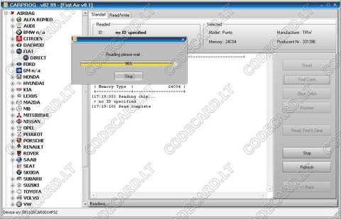 Airbag Software Reset