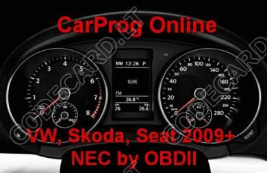 S7.14 - Dashboard with NEC repair by OBDII for VW, Skoda, Seat 2009+