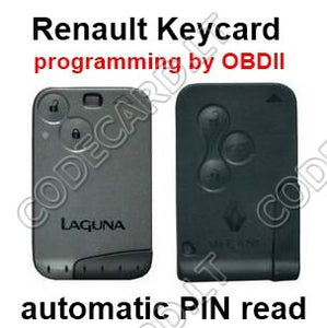 CarProg programming software for Renault Laguna II, Megane II cards