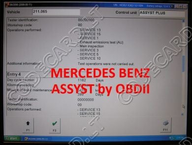 S7.31 - ASSYST repair by OBDII software for Mercedes-Benz