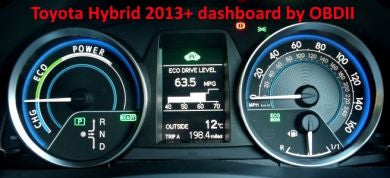 S7.42 - Dashboard repair by OBDII for Toyota Auris hybrid 2013+