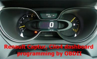 S7.37 - Dashboard repair by OBDII for Renault Clio 4, Captur