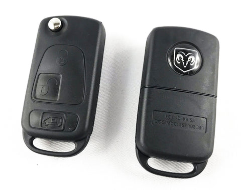 Dodge Sprinter 3 buttons flip key (HU64)