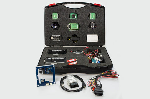 EVO 4 Kit - evolution of MBE Evo 4 locksmith, kit that offers big flexibility and possibilities for its users. This kit contains newest generation of software in key programming for Mercedes Benz but it also allows to work with ELV (Electronic Steering Locks) and other components in Mercedes Benz vehicles (erasing of gearboxes, ECU's etc). This kit was designed for more advanced users that are not afraid of their work with EEPROM's and soldering. It not only allows to work with new BGA keys but also with ol
