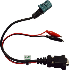 W204 K-line cable set enables to connect ESL/ELV (steering lock) with MB Key Prog2 EVO on-bench. Cable allows to read and test steering lock (ESL/ELV).