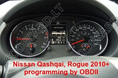 S7.29 - Dashboard repair by OBDII for Nissan Qashqai, Rogue 2010+