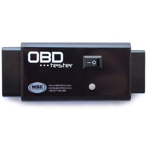 Special tool developed to emulate ignition in VAG cars (needed when you plug your diagnostic tool and do not have power on OBD socket) and also an OBD tester all-in-one. This specially designed tool works with every car we had tested it. Just plug the tool into the OBD on the car and press the test button and tool will automatically check if there is a short in the OBD.