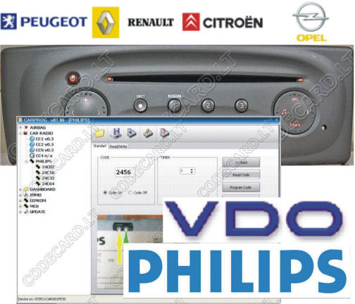 S6 4 - Car radio decoding software for Phillips