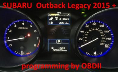 S7.45 - Instrument cluster with D70F3526 repair by OBDII (no external EEPROM) for Subaru Legacy Outback 2015+