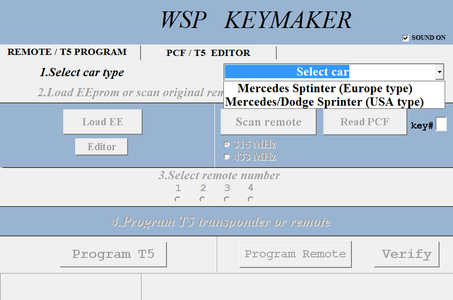 WSP (Sprinter W901-W902-W903-W904-W905) software update for KR55 Keymaker-Two remotes included!