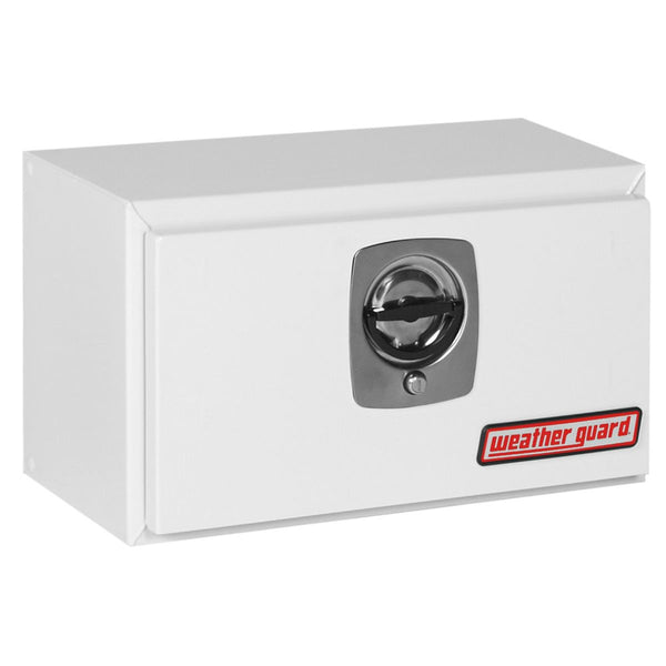"Weather Guard Steel Compact Underbed Truck Box in White   #525-3-02 14.125"" H x 12.375"" W x 24.125"" L"