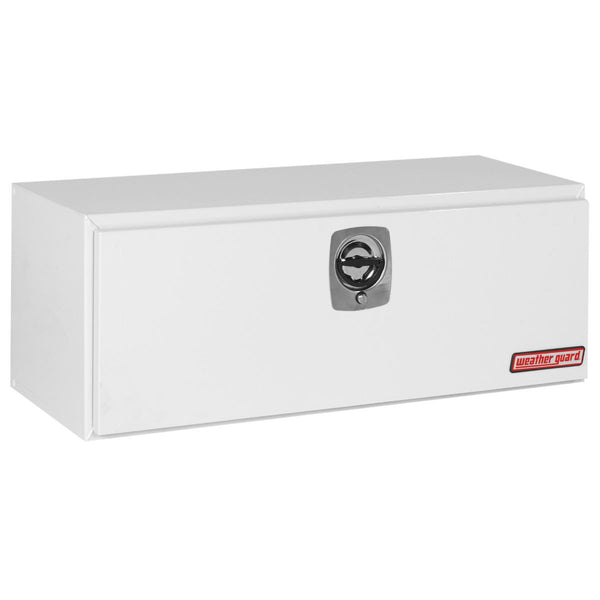 "Weather Guard Steel Flatbed/Platform/Dump Underbed Truck Box in White  #548-3-02 18.125"" H x 18.25"" W x 48.125"" L"
