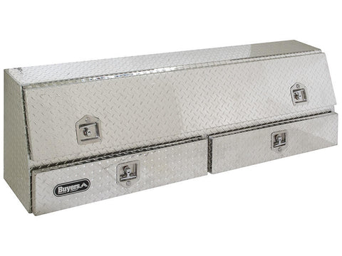 "Buyers Products  Topside Aluminum Truck Toolbox with 2 Drawers  #1705641 21"" H x 13.5"" D /10"" x 72"" W"
