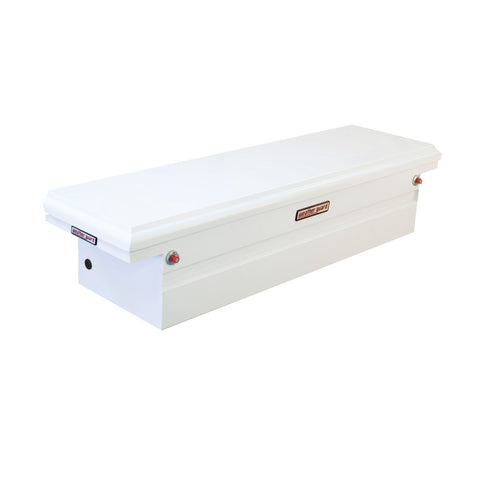 "Weather Guard Steel Low Profile Saddle Box in Brite White #120-3-01 15.875"" H x 20.25"" W x 71.5"" L"