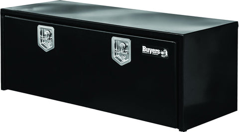 "Buyers Products Black Underbody Stainless Steel  Truck Toolbox with 2 T-Handle Latches #1702315 18""H x 18""D x 60""W"