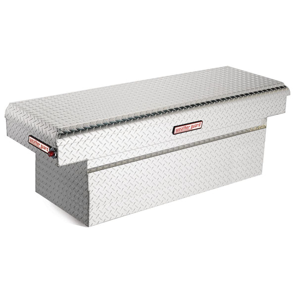 "Weather Guard Aluminum Extra Deep Saddle Box in White #123-0-01   24"" H x 20.25"" W x 71.5"" L"