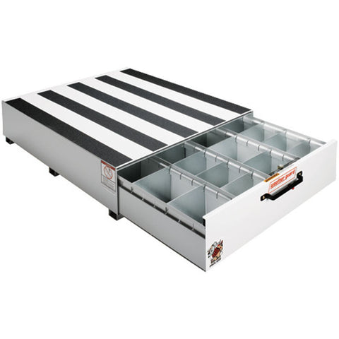 "WeatherGuard 338 3 - Pack Rat 4 Compartment Drawer Unit in White,  12.5"" H x 39.75"" W x 48"" L"