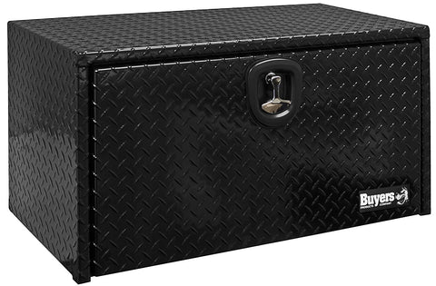"Buyers Products Black Aluminum Underbody Truck Toolbox #1725135 24""H x 24""D x 36""W"