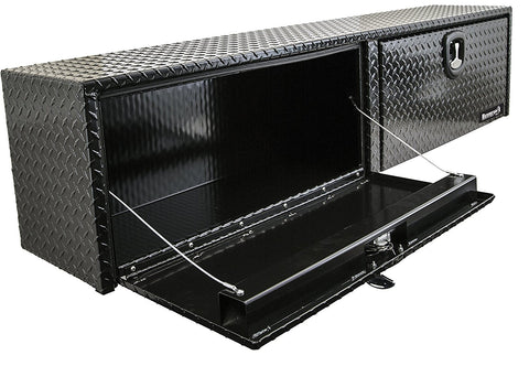 "Buyers Products Black Aluminum Topside Truck Toolbox 18""H x 16""D x 90""W #1721565"