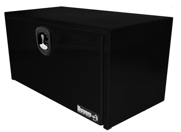 "Buyers Products Black Underbody Truck Tool Box with 3 - Point Latch #1734305  24""H x 24""D x 36""W"