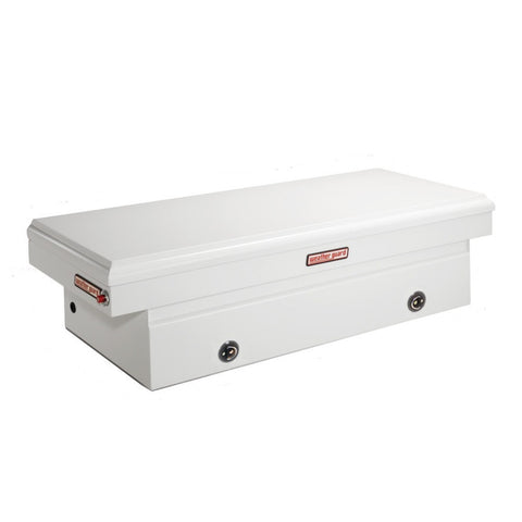 "Weather Guard Steel Full-Size Extra Wide Truck Tool Box in Brite White #116-3-02 18.5"" H x 27.5"" W x 71.5"" L"