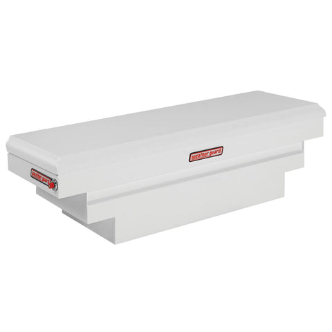 "Weather Guard  Steel Compact Deep Saddle Truck Box in White  #136-3-01 18.5"" H x 20.25"" W x 62"" L"
